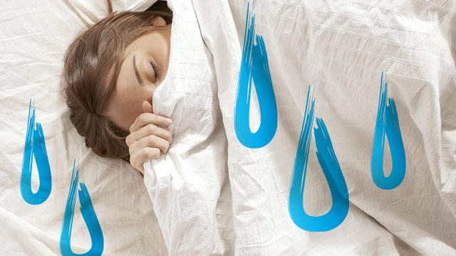 So vermeiden Sie schwitzen im Schlaf